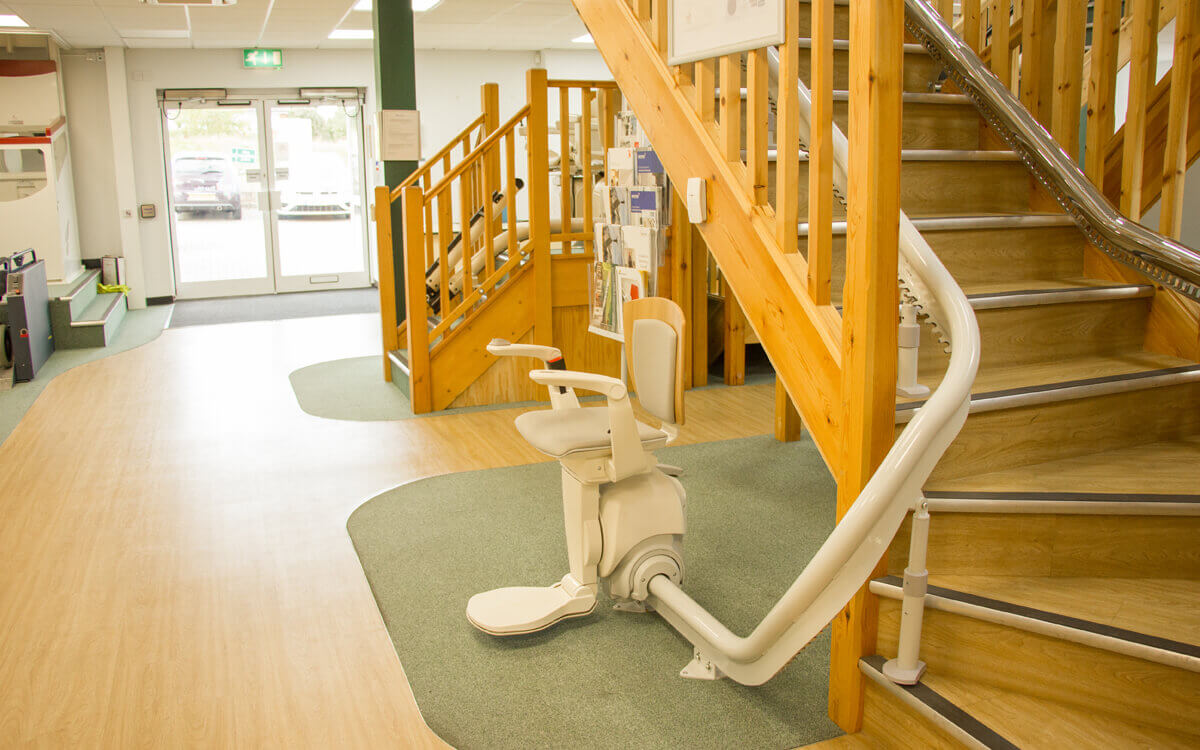 Stairlift in the UKs largest stairlift showroom