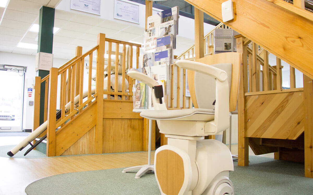 Stairlift not being used in a showroom