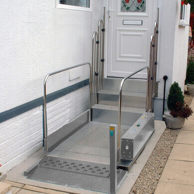 Step Lift installed outside a front door